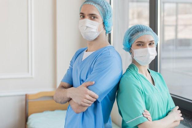 Nurses with masks